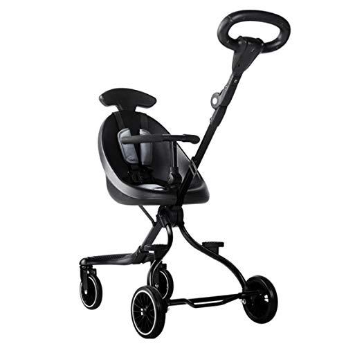 BabyCarriage Kinderwagen, hoge landschap vouwen lichtgewicht twee-weg kinderwagen, voertuig afneembare reiniging kinderwagen