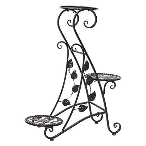 Planta Vertical De Metal Soporte De Flores 3 Plantas DecoracióN De JardíN ExhibicióN De Hierro Forjado 3 Capas De Maceta De Rack De Almacenamiento De Rack Adecuado Para El JardíN Oficina En Casa