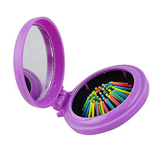 U/K Pulabo - Cepillo compacto plegable para el pelo y el espejo,...