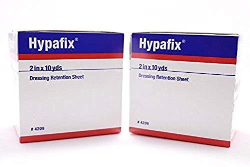 Hypafix Dressing Retention Tape 2 Inch x 10 Yards - Pack of 2 Rolls, Original Version