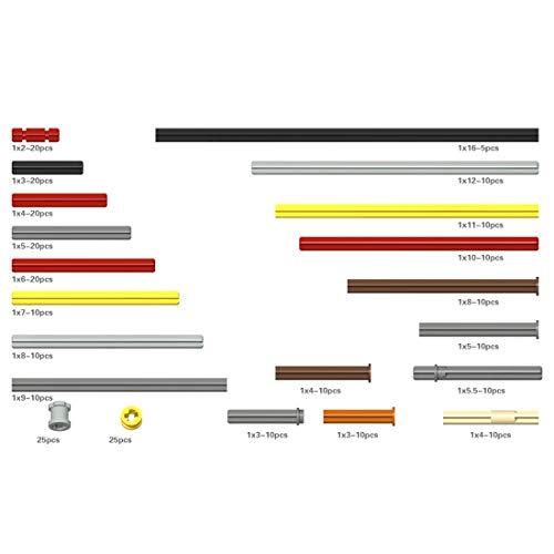 Bybo DIY Technik Ersatzteile Set,Technik Teile Technik Steine Einzelteile, Klemmbausteine Set Kompatibel mit Lego Technik