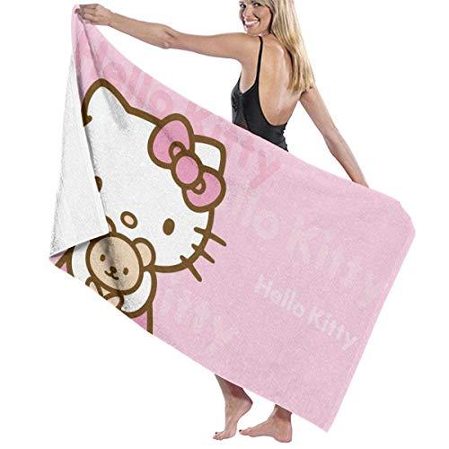 TammyBPeter Toallas de baño Hello Kitty - Toalla de baño Grande de Microfibra Suave para Adultos