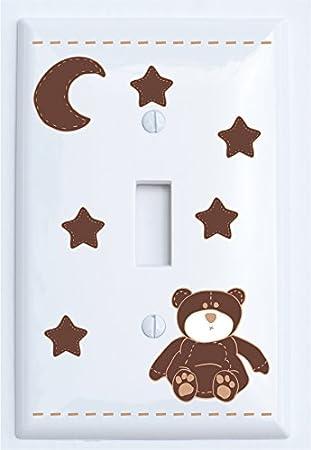 Decor Accents Decorative Nursery Bear /& Dog Light Switch Plate