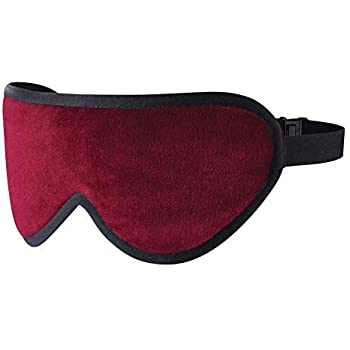 Masters Of Mayfair Luxury Sleep Mask Infused with 100% Lavender & Luxurious Soft Silk Backing (Burgundy)