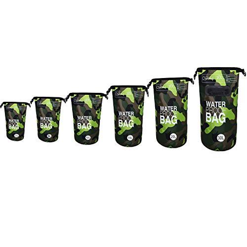 DonDon vattentät Outdoor Dry Bag påse säck packpåse torrpåse med remmar kamouflage 20 liter