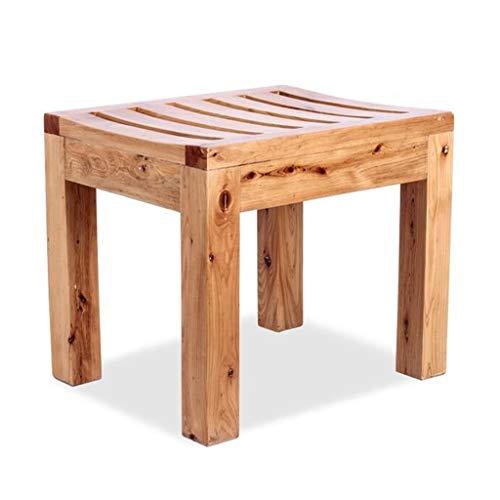 Massivholz Bad/Duschhocker Badewannensitzbank Breiter Rahmen Badezimmer-Sicherheitshilfen für ältere Menschen, Behinderte Last von 200 kg, Größe 42 x 34 x 36 cm