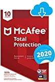 McAfee 2020 Total Protection | 10 Appareils | 1 An | PC/Mac/Android/Smartphones | Téléchargement