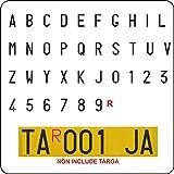 StikerLab Serie Lettere e Numeri Adesivi con Caratteri Omologati per Targa Ripetitrice Rimorchi e Carrelli Appendice