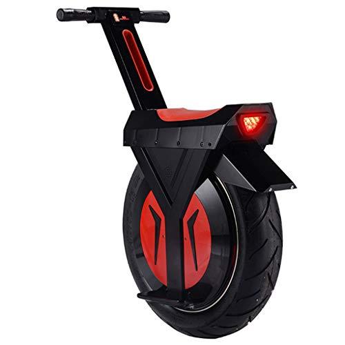 Elektrisches Einrad 17 Zoll Fahrrad Intelligent Somatosensory Single Wheel Motorrad Balance Bike,Black,12Ah