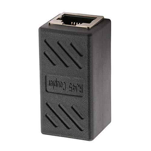P Prettyia Extensor de Adaptador de Conector LAN Ethernet de Red RJ45 (Hembra a Hembra)