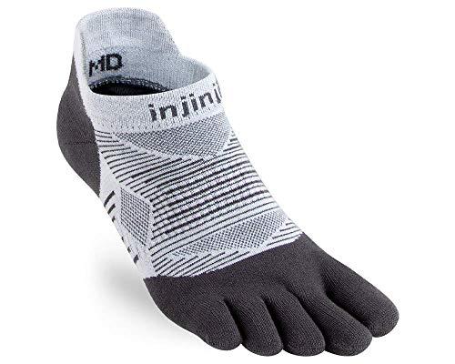 Injinji Run Lightweight No Show Toe Socks Gray Size : 40-44