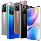 Note60 Pro 4G / 5G Android Smartphone 7.1'Water-Drop Screen Unicom Releases Memory 12gb + 512gb Chip mtk6889m 10core Android 10 Batería 5600mAh Cámara 32MP+48MP (Blanco)