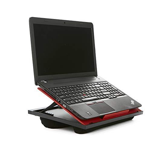 Mind Reader LTADJUST-RED Adjustable 8 Position Top Desk with Cushions,...