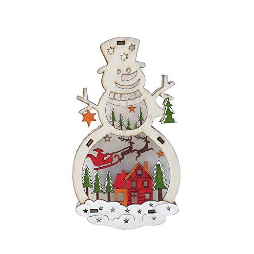 JERKKY Kerst Ornamenten 1 Stuk Kerstman Houten Verlichting Decoratie Winkel Raam Decoratie Props benodigdheden
