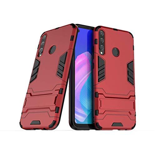 NH Funda Huawei P8 Lite 2017 Shockproof Carcasa 360 Grados Protective + [Protector Pantalla 2 Piezas] Hard PC y Silicona TPU Kickstand Tough Armor Case para Huawei P8 Lite 2017 -Rojo