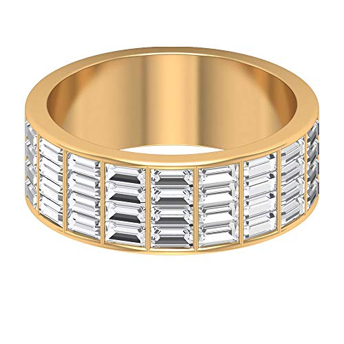 Rosec Jewels 18k Yellow-oro. Baguette Diamond