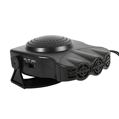 Duokon Calentador de coche y ventilador de refrigeración,12V 150W 2 en 1 Calefacción del calentador del vehículo del automóvil Ventilador fresco Desempañador del desempañador del parabrisas