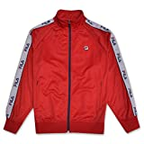 Fila Mens Big and Tall Track Jacket with Logo Taping Down Arms RED 2X Tall