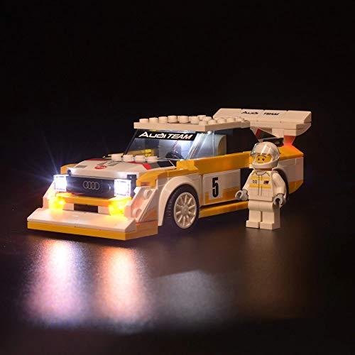 Kyglaring Luce per Lego 76897 Speed Champions Mattoni per mattoncini leggeri Audi Quattro S1 Light per LEGO 76897 Kit di costruzione Audi Quattro S1 (modello 76895 NON incluso)