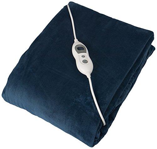 Julava Premium - Manta Eléctrica  Poliéster, Azul Oscuro, 130x180x1 cm