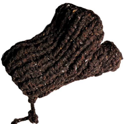 Pulswärmer Stulpen Dunkelbraun Farbeffekte Weiß Lachs Beige Hellblau gestrickt Royal Tweed von Lana Grossa
