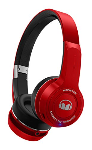 Monster MHCLYONRDBT ClarityHD Wireless Bluetooth On-Ear Headphones - Red 137082-00