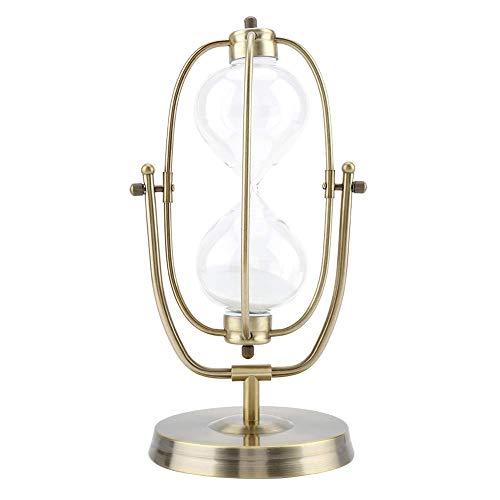 CHUTD Minuterie de Sable rotative Horloge de Verre de Sable en Verre Transparent Cadeaux de décoration intérieure Ornement de Bureau Sablier (Couleur: 30 Minutes, Taille: S)