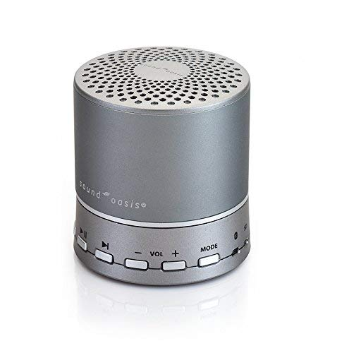 Sound Oasis Bluetooth Sound Sleep White Noise Machine with 20 Built-in Nature and Dr Developed Sounds Stream Sounds from Your mp3 Device or Create Your Own Custom Sound List