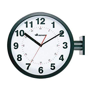 BONOX ダブルフェイスウォールクロック(両面時計)