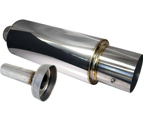 N1 4' Muffler Exhaust 2.5' Inlet Universal with Removable Silencer (For any cars)