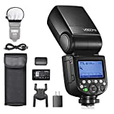 Godox V860IIIS Speedlight para Cámaras Sony, 76Ws 2.4G Flash de cámara, Batería Li-Ion 7.2V/2600mAh, 0.01-1.5s Tiempo de Reciclaje, Lámpara de Modelado LED de 10 Niveles