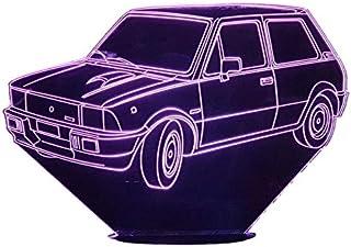 DETOMASO INNOCENTI MINI, Lampada illusione 3D con LED - 7 colori.