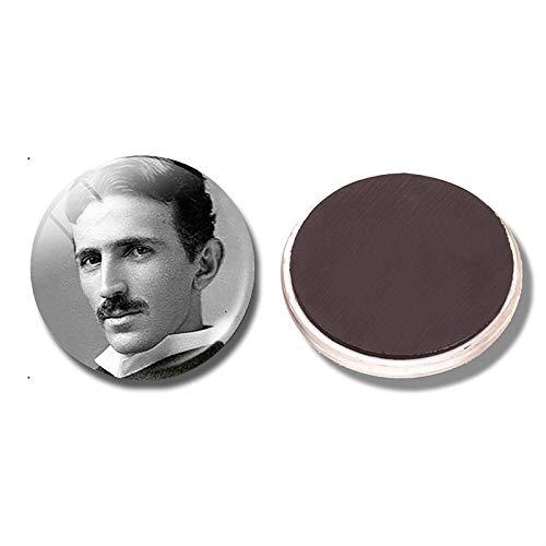 yqs imanes de Nevera Nikola Tesla 30mm Imán De Nevera Ciencia Geek Física Cuántica Cúpula De Vidrio Magnética Nevera Pegatinas Bloc De Notas Decoración del Hogar