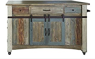 Crafters a Weavers Bayshore Solid Wood Kitchen Island, Distressed