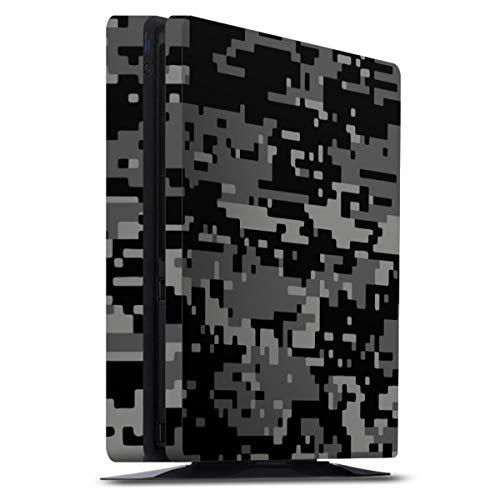 DeinDesign Skin kompatibel mit Sony Playstation 4 PS4 Slim Folie Sticker Pixel Camouflage Tarnmuster