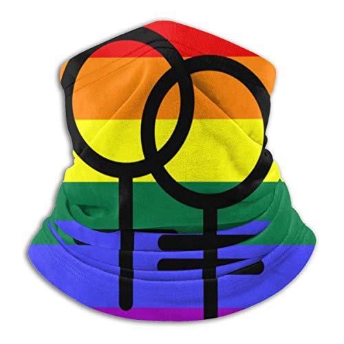 Lesbian Pride Flag Mikrofaser-Halswärmer, Schal, Gamasche, Kopfbedeckung, Gesichtsschutz