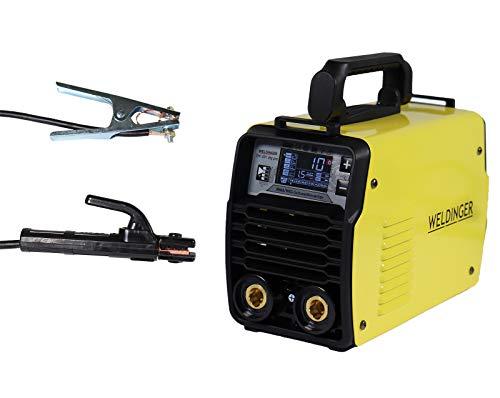 WELDINGER EW 201 dig pro Elektrodenschweißinverter mit Digitalsteuerung WIG tauglich 4 m Schweißkabel (MMA Lift-WIG VRD)