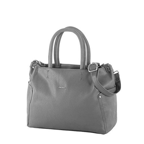 Prato Kurzgrifftasche S/790 Damen Handtasche (grau)