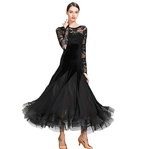 WESEAZON Mädchen Badminton Rock Mädchen Ballett Kleider Frauenballett Kleider Frauen Lyrical Latin Ballet Dance Dress Evening Cocktail Party Club Fringes Necklace Dress,XXL