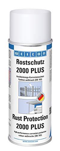 Weicon 11012400 anthrazit Rostschutz 2000 Plus 400ml Metallschutz vor Korrosion und Rost
