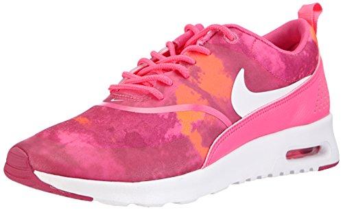 Nike Air MAX Thea Print Wmns 599408-602, Zapatillas Mujer, Rosa-Pink (Pink Powder/White-Fireberry-Total Orange), 37.5 EU