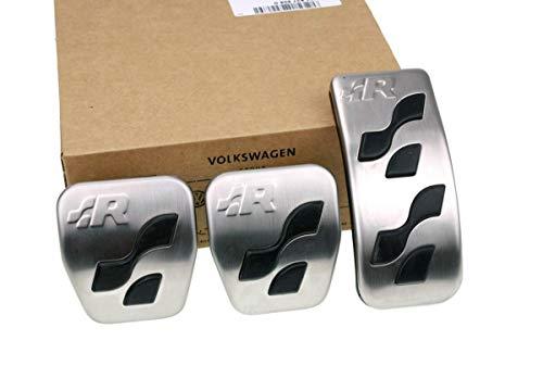 Original Volkswagen VW Ersatzteile R-Line R32 Pedalkappen Set (Golf IV Bora Polo Lupo..)