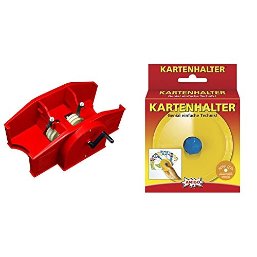 Amigo 5000 - Kartenmischmaschine, rot & Kartenhalter, gelb