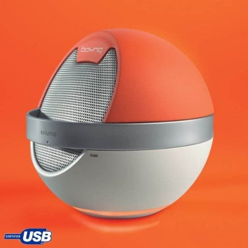 Boynq Saturn orange - Lautsprecher (1.0 Kanäle, 5 W, 20-20000 Hz, 4 Ohm, Orange)