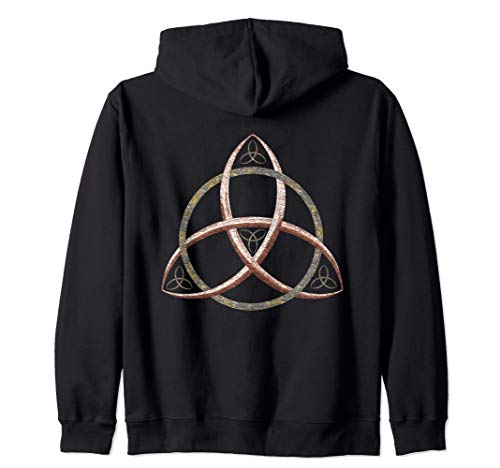 Trinity Knot Triquetra Symbol Zip Hoodie