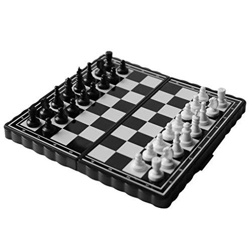 Juego de tablero de ajedrez magnético, plegable con marco, conveniente para llevar a los niños que viajan ajedrez niños adultos, 13.5 * 13.2 * 2.5cm;