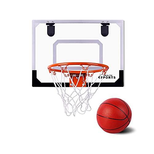 SHENAISHIREN Mini Aro De Baloncesto para Niños, Tablero De Baloncesto Transparente Cubierta De Pared De Pared Juego De Pelota Juego De Deporte para Niños para Niños Dormitorio