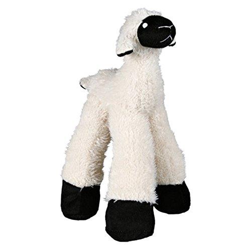 TRIXIE Jeu pour Animaux - Peluche pour Chien - Mouton Jambes Longues - 30 cm