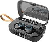 Auriculares Bluetooth 5.1, auténticos, inalámbricos, con indicador LED, 80 horas, reloj de linterna, cargador para teléfono, impermeable IPX5, auriculares in-ear para viajes en casa, oficina BL-1