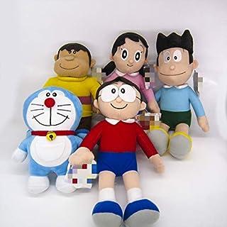 Xin Yao Store Peluche 5Pcsanime Doraemon Muñeca De Peluche Nobita Nobi Doraemon Minamoto Shizuka Konta Takeshi Gigante Honekawa Suneo Muñeco De Peluche De Dibujos Animados